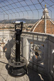 Binoculars on the observation deck of Giotto. Florence Stock Photo
