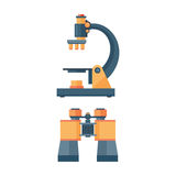 Binoculars optical zoom equipment vector illustration. Royalty Free Stock Photography