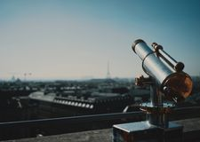 Binoculars over Paris royalty free stock image