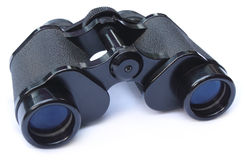 Binoculars over white background Royalty Free Stock Images