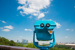 Binoculars overlooking for Moscow Stock Photography
