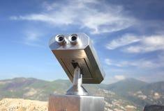 Binoculars platform Aerial views of the city Stock Images