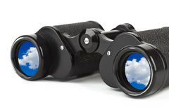 Binoculars and reflection of sky Royalty Free Stock Photos
