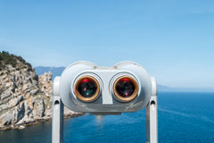 Binoculars and rocks. Amazing landcape, beautiful destination. Wild nature stock images