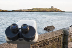 Binoculars by the Sea Royalty Free Stock Photo