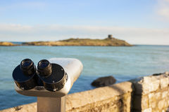 Binoculars by the Sea Stock Image