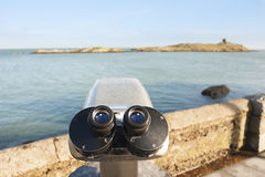 Binoculars by the Sea Stock Photos