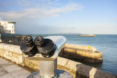 Binoculars by the Sea Royalty Free Stock Photography