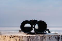 Binoculars at the sea Royalty Free Stock Photo