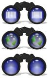 Binoculars set Stock Photos