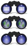 Binoculars set Stock Photos