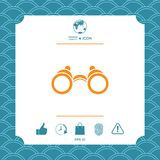 Binoculars symbol icon. Element for your design Stock Images