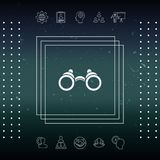 Binoculars symbol icon. Element for your design Royalty Free Stock Photos