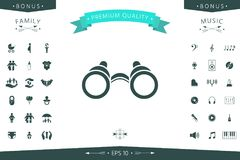 Binoculars symbol icon. Element for your design Royalty Free Stock Images