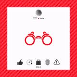 Binoculars symbol icon. Element for your design . Signs and symbols - graphic elements for your design Royalty Free Stock Images