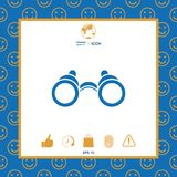 Binoculars symbol icon. Element for your design . Signs and symbols - graphic elements for your design Royalty Free Stock Photo