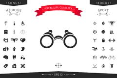 Binoculars symbol icon. Element for your design Stock Photography