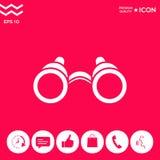 Binoculars symbol icon. Element for your design . Signs and symbols - graphic elements for your design Stock Image