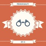 Binoculars symbol icon. Element for your design . Signs and symbols - graphic elements for your design Stock Photo