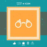 Binoculars symbol icon. Graphic element for your design Royalty Free Stock Photos