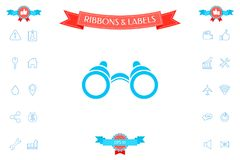 Binoculars symbol icon. Signs and symbols - graphic elements for your design Royalty Free Stock Photography