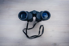 Binoculars on the table royalty free stock images