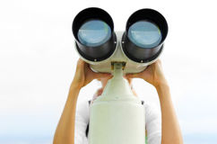 Binoculars or telescope Royalty Free Stock Photos