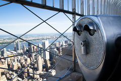 Binoculars to observe the city Stock Images
