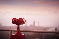 Binoculars to view cityscapes Stock Images
