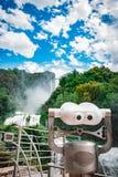 Binoculars. Tourist binoculars at Marmore Waterfalls Royalty Free Stock Photos