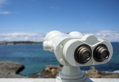 Binoculars at View point Royalty Free Stock Photos