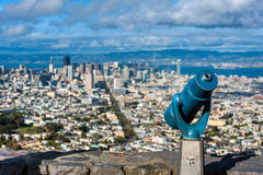 Binoculars at Twin Peaks San Francisco Stock Photo
