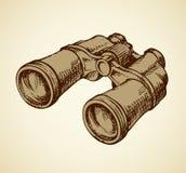 Binoculars. Vector Drawing Royalty Free Stock Photos