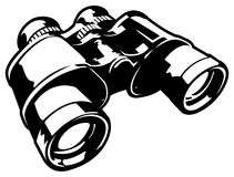 Binoculars. This is a vector graphic of a pair of binoculars Stock Photos