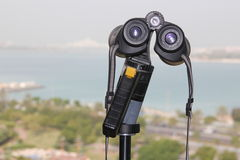 Binoculars with view Stock Image