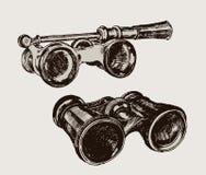 Binoculars. vintage image Stock Photos