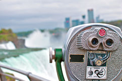 Free Binoculars Watching Niagara Falls Stock Image - 33058611