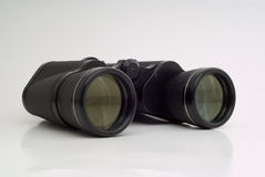 Binoculars on white Stock Photo