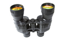 Binoculars on white Royalty Free Stock Photos