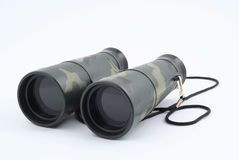 Binoculars on white Royalty Free Stock Images