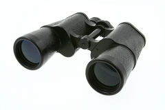 Binoculars on white Stock Images