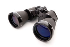 Binoculars on a white background Stock Image