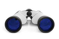 Binoculars. On a white background Royalty Free Stock Images