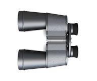 Binoculars  on white background, top view. 3d rendering Stock Photo
