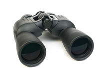 Binoculars white isolated Stock Image