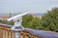 Binoculars with a wonderful view of Florence Stock Image