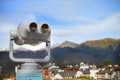 Binoculars with a wonderful view Stock Photos