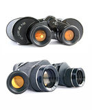 Binoculars with yellow filter Stock Images