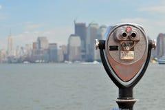 Binokulärt på frihetön, New York Royaltyfria Foton