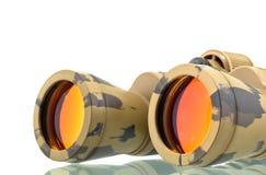 binokulärt teleskop Arkivbild